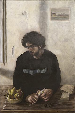 Primo Premio: Andrea Ceddia, Il ladro di pere, 2018, olio su tela, cm 120x80